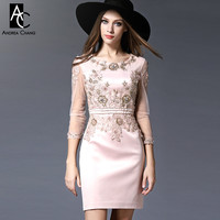 spring summer runway designer womens dresses red pink white event dress high quality beaded dress gown