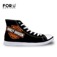 High Top Canvas Shoes with Classic Flat Casual Lace-up Vulcanized Graphics