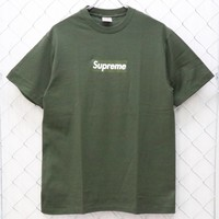 SUP Olive Box Logo T-Shirt