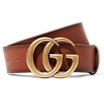 Dior GG men's and women's smooth buckle belt