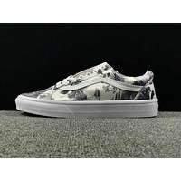Summer Newest Vans Floral Pattern Old Skool Sneaker Casual Shoes