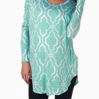 Aqua-Printedl-Printed-Long-Sleeve-Maternity-Top