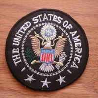 The United States of America President USA Iron On patch, Applique, Sewing patch
