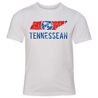 Kids Tennessean on a White T-Shirt