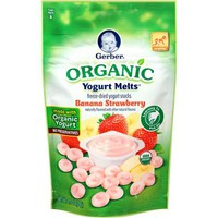 Gerber Organic Yogurt Melts Banana Strawberry Freeze-Dried Yogurt Snacks, 1 oz - Walmart.com