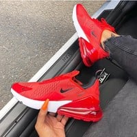 shosouvenir :Nike Air Max 270 Air cushion red sports running shoes