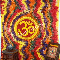 Indian Tapestries Wall Hanging, Om Tapestry, Hippie Tapestry, Indian Tapestry Bedspread, Meditation Yoga Bohemian Wall Hanging, Wall Hanging