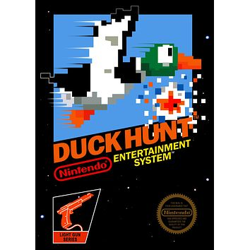 Duck Hunt Game Poster//NES Game Poster//Video Game Poster//Vintage Game Reprint