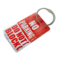 No Parking Do Not Block Luggage Tag Set
