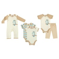 Touched by Nature Baby Organic 5 Piece Gift Set - Owl : Target
