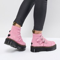 Dr Martens x Lazy Oaf Boots in Pink at asos.com