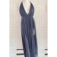 Skylar Madison Halter Maxi Dress