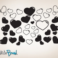 Vinyl Wall Decal Heart Bubbles #CSJean104