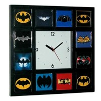 History of Batman Bat Signal Movie TV Show Comics Clock