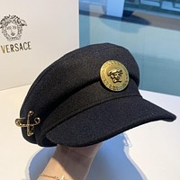Versace New fashion couple sun protection cap hat Black