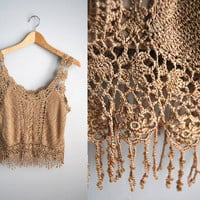 The Emmy - Vintage Crochet Crop Top Tank