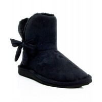 "New Soda ""Lovely"" Womens Shoes Ankle Boots BLACK"