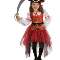 free shipping Halloween Christmas pirate costumes girls party cosplay costume for children kids clothes