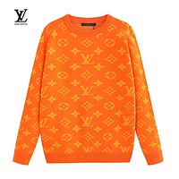 LV Louis Vuitton New Fashion Casual Letter Print Long Sleeve Sweater 1#