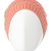 Mixed Stitch Open Knit Beanie by Charlotte Russe