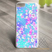 Purple flowers Floral Custom case for iPhone, iPod and iPad