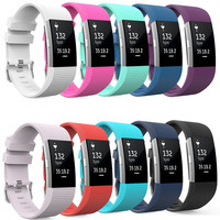 Soft Silicone Replacement Band for Smart Fitbit Charge 2
