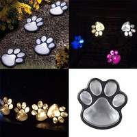 Solar Powered Cat Paw Lights