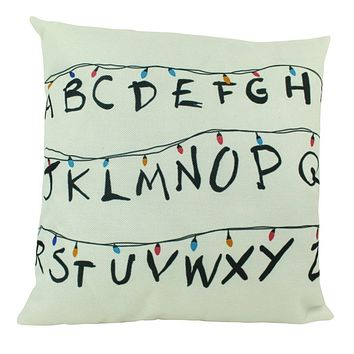 Stranger Things | Alphabet | Pillow Cover | ABC | Throw Pillow | Kids Room Decor | Home Decor | Room Decor
