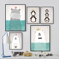 Animals Canvas Art Print Poster, Wall Picture - No Frame