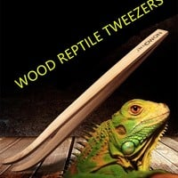 Super Long Wood Reptile Tweezers Clips 28cm and 16.5cm size Tool for Frog Spider Lizard Terrarium Cleaning and Feeding