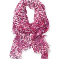 Aeropostale  Womens Floral Skull Scarf - Pink, One