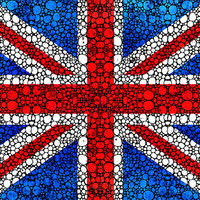 British Flag Print from Painting Britain uk united kingdom flags England Great Britain CANVAS Ready To Hang Large Artwork Pop Culture Music