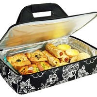One Kings Lane - Take It Outside - Thermal Food Carrier, Night Bloom