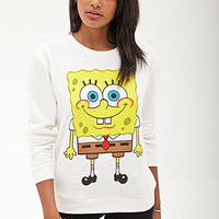 FOREVER 21 SpongeBob Squarepants Sweatshirt Cream/Yellow