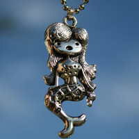 Mythical MERMAID Hello Kittyesque charm with by FlipsideCreations