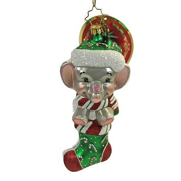 Radko A Little Stampede Ornament Elephant Baby's 1St - 1020123