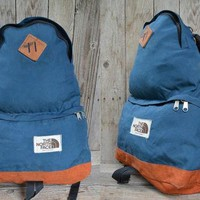 Vintage THE NORTH FACE Two Tone Tear Drop Two Compartment Daypack Backpack