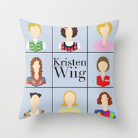 Kristen Wiig Character Print Throw Pillow by LoverlyPhotos