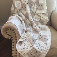 Crochet Blanket Pattern - Arielle's Square - Crochet Baby Blanket Pattern - Easy Granny Square Pattern - Throw Afghan - Crochet Patterns