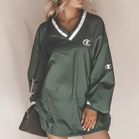 VINTAGE Forest Green Champion Windbreaker 23