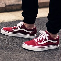 Vans Classics Old Skool Green/Wine red Sneaker G