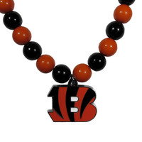 Cincinnati Bengals Fan Bead Necklace