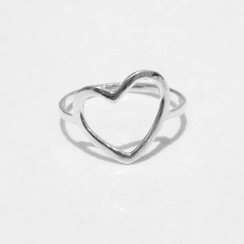 """Heart Sterling Silver Ring """"HEART PRIMO"""" Everyday Jewelry - Handmade Jewelry"""