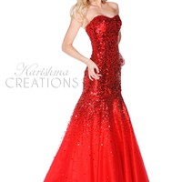 Epic Formals by Karishma Creations 3276 Sequin Evening Gown