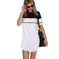 Sale- White Opposites Attract Tunic