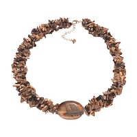 Chipped Tiger Eye Multi Strand Necklace