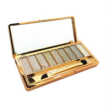 9 Color Diamond Eyeshadow Palette with Brush