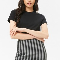 Dash-Striped Mini Skirt
