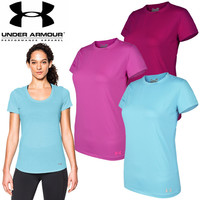 Under Armour Woman Casual Sport Gym Yoga Running Short Sleeve Shirt Top Tee