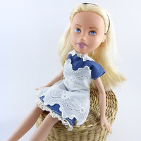 Alice in Wonderland, Upcycled Repainted Bratz doll - OOAK made-under Doll child's decor